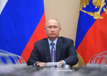 ロシア・モスクワで会議に出席するプーチン大統領=11月29日(AP=共同)