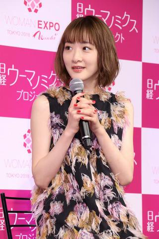 イベント「WOMAN EXPO TOKYO 2018 Winter」に登場した生駒里奈さん