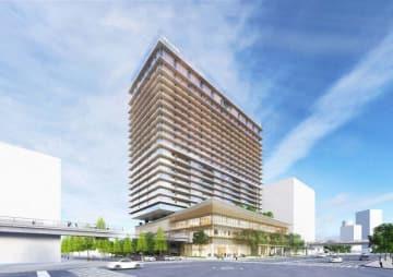 「ウェスティンホテル横浜」の完成予想イメージ(積水ハウス提供)