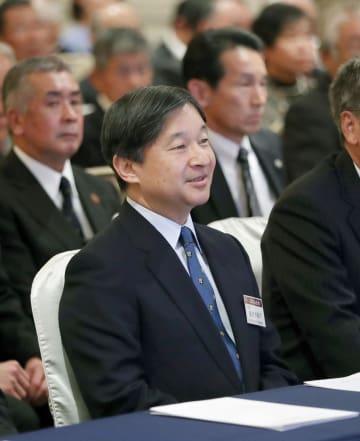 日本山岳会の講演会に出席された皇太子さま=1日午後、東京都新宿区(代表撮影)