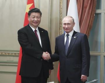 習近平主席、ロシアのプーチン大統領と会見