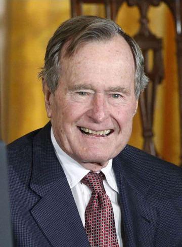 死去したジョージ・H・W・ブッシュ元米大統領(ロイター=共同)