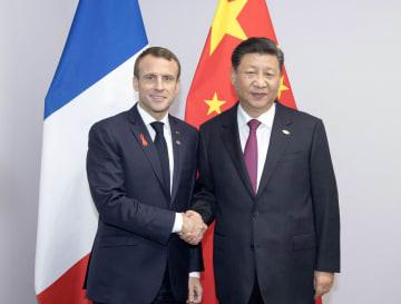 習近平主席、マクロン仏大統領と会見 多角的貿易体制の擁護強調