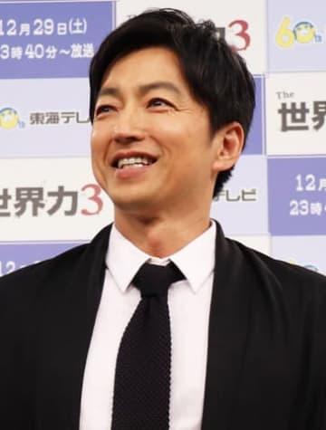 名古屋市内で行われた特別番組「The世界力3(仮題)」の会見に出席した大沢たかおさん