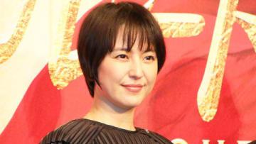 映画「マスカレード・ホテル」の完成報告会見に登場した長澤まさみさん
