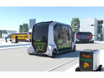 2018年1月、米ラスベガスで開催した国際家電見本市「CES」でトヨタが発表したモビリティーサービス用電気自動車「e-Palette Concept」