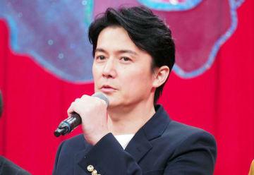 日本テレビの朝ドラマ「生田家の朝」の制作発表会見に登場した福山雅治さん