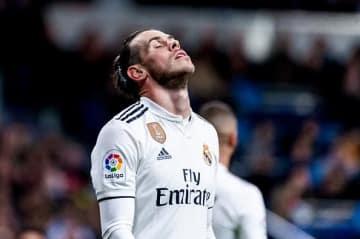 天を仰ぐベイル。バレンシア戦でもゴールを決めることができず photo/Getty Images