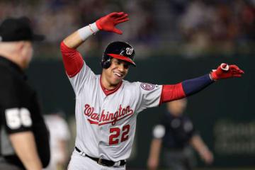 日米野球で活躍を見せたナショナルズのフアン・ソト【写真:Getty Images】