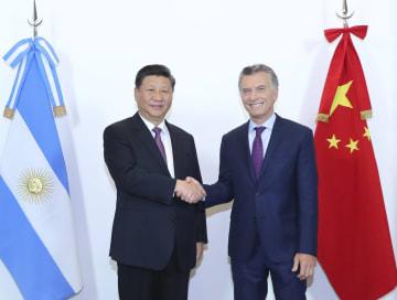 習近平主席、アルゼンチンのマクリ大統領と会談