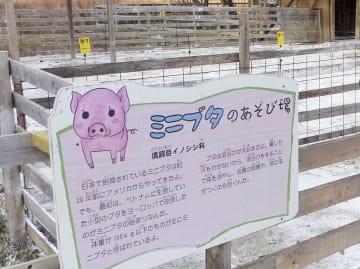 安楽死させられたミニブタが飼育されていた「ぎふ清流里山公園」。右奥は豚舎=12月、岐阜県美濃加茂市