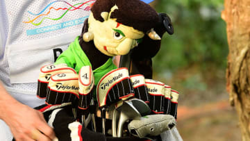 フランケンシュタインのヘッドカバーを装着し、香港オープンで優勝したアーロン・ライはイングランド出身の23歳 Photos by Getty Images