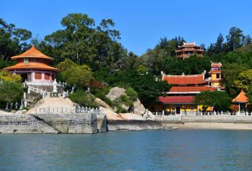中国で最も海抜の低い寺、東明寺