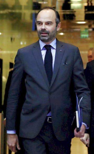 フランスのフィリップ首相=4日、パリ(ロイター=共同)