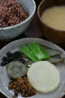再現された江戸時代の農民の夕食