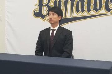 契約更改に臨んだオリックス・東明大貴【写真:橋本健吾】