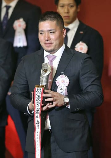 パ・リーグ最優秀選手に輝いた西武の内野手、山川穂高(やまかわ・ほたか)さん