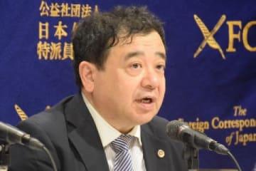 指宿昭一弁護士(11月28日、日本外国特派員協会)
