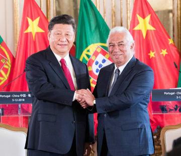 習近平主席、ポルトガルのコスタ首相と会見
