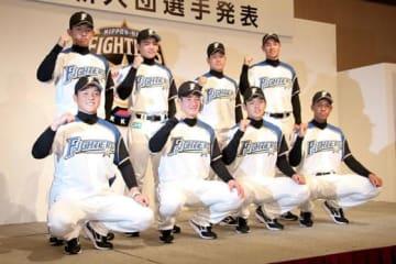 日本ハムの新人選手たち【写真:石川加奈子】