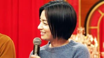 日本テレビの朝ドラマ「生田家の朝」の制作発表会見に登場した尾野真千子さん