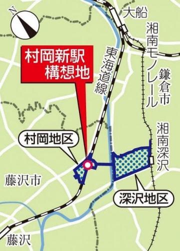 村岡新駅構想地の地図