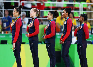 Gabby Douglas Responds After Anthem Controversy