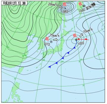 気象庁ホームページより(12月7日午前3時)