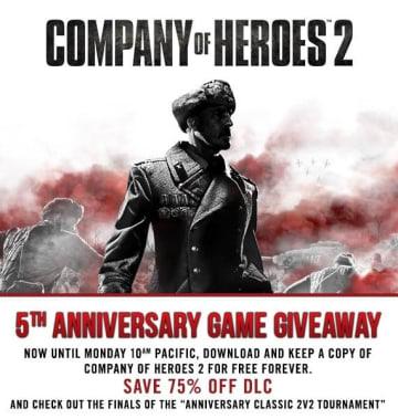 Steamにて、WW2RTS『Company Of Heroes 2』が期間限定無料配布!DLCセールも実施