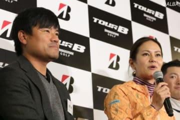 イベントで海外秘話を披露した宮里優作(左)と宮里藍(撮影:ALBA)