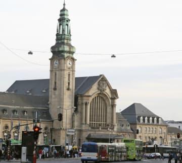 ルクセンブルクのルクセンブルク駅=2009年10月(共同)