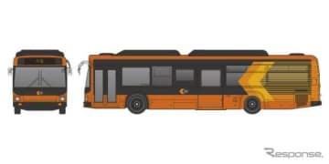 『いまざとライナー』用バスのデザイン。