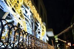 商店街を電飾で彩った「タルミナリエ」=神戸市垂水区神田町