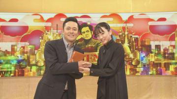 8日放送のNHKの番組「有田Pおもてなす」にゲスト出演する永野芽郁さん(右)=NHK提供