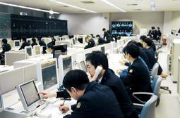 東京の総合指令所が使えない事態を想定し、新幹線の運行を一元管理した第2総合指令所=8日午前、大阪市内