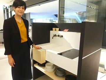 ミラノサローネ・アワードを受賞したコンパクトキッチン「EO01」