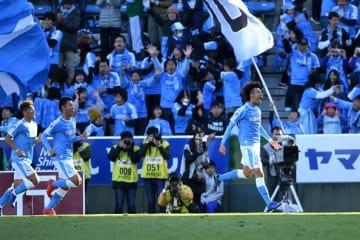 小川航基がPKを決め、先制点をゲット。ジュビロは終始試合を優位に進めた photo/Getty Images