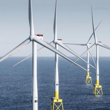 三菱重工業の合弁会社が手掛ける洋上風力発電設備(MHIヴェスタス提供)