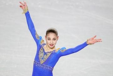 フリーの演技をするアリョーナ・コストルナヤ(ロシア)=8日、バンクーバー(タス=共同)