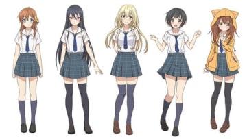 テレビアニメ「八月のシンデレラナイン」のキャラクターデザイン(C)Akatsuki Inc./アニメ「八月のシンデレラナイン」製作委員会