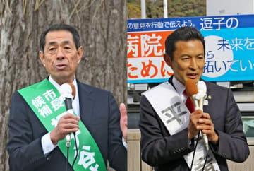 桐ケ谷覚氏(左)、平井竜一氏(右)