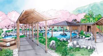 温浴施設エリアのイメージ=小田急電鉄提供