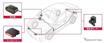 デンソーとトヨタが開発した「ペダル踏み間違い加速抑制装置」(イメージ)