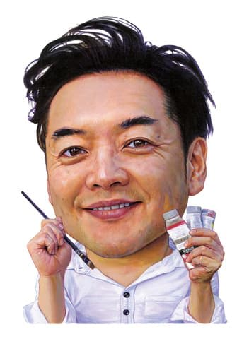金子ナンペイさんが描いた自画像=小学館提供