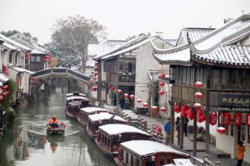 蘇州に雪 風情増す冬景色