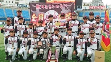【学童野球の全国大会で初優勝したみなべ少年野球クラブ(9日、横浜市で)】