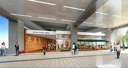 阪神鳴尾駅の高架下に新設される「武庫女ステーションキャンパス」の完成イメージ(武庫川女子大学提供)