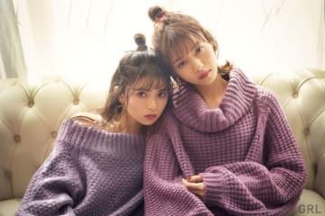 ファストファッションブランド「GRL」の2018年冬のイメージビジュアル。齋藤飛鳥さん(左)と西野七瀬さん