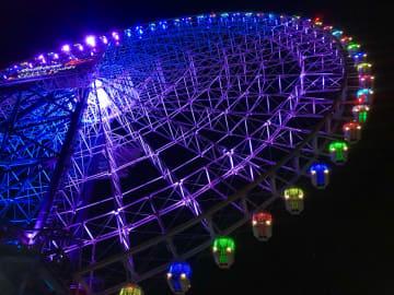 ゴンドライルミも開始!日本一の大観覧車に「光のエントランス&回廊」が登場