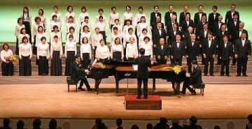 初演から50年「筑後川」熱唱 久留米音協合唱団 [福岡県]